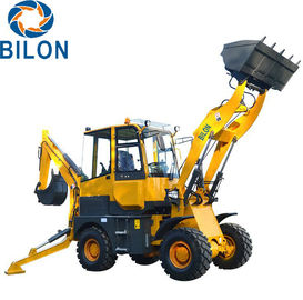 China 4x4 Small Backhoe Loader With Adjustable Seat / Stable Performance supplier