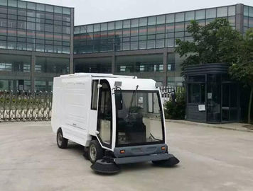 China Metal / Coil Snow Sweeper Machines Battery Power Brush Sweeper For Outdoor Cleaning supplier