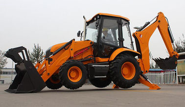 China 1.2m3 Bucket Capacity Front Loader Tractor 8 Ton Skid Steer Loader Backhoe supplier