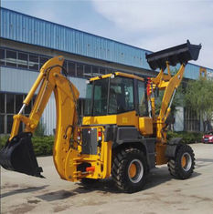 China 2.5 Tons Caterpillar Backhoe Loader 1.0M3 Loading Bucket Capacity supplier