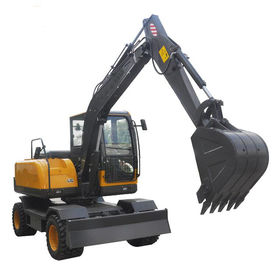 China Humanized 6 Ton Wheel Excavator Machine For Construction Low Fuel Consumption supplier