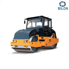 China 8T 10T Static Tandem Road Rollers With Double Drum Slot Grind Wheel Type supplier