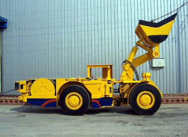 China 2CBM Articulated Underground Mining Machines / Hydraulic Electric Load Haul Dump machine supplier