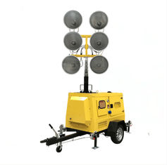 Hydraulic Lifting Mobile Light Tower , IP54 6*1000W Metal Halide Lamp