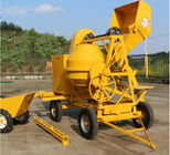 500L Mobile Portable Self Loading Concrete Mixer Truck With Air - Cooled Diesel Engine