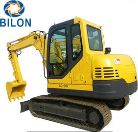 High Power Mini Crawler Excavator 6 Ton Operating Weight With 4.8km/H Rated Speed