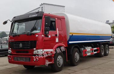 A7 8*4 Water Tank Truck 30CBM HOWO With 351 - 450hp Horsepower