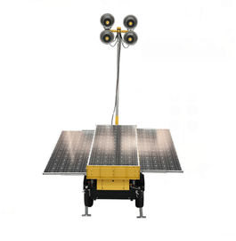 China 70CRI 4.8M 3*200W Solar LED Light Tower With 358 Degree Mast Rotation distributor