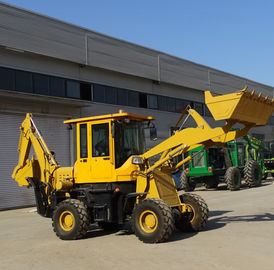1600kgs Wheel Loader Tractor / Front Mini Backhoe Loader With Enlarged Operator Cabin