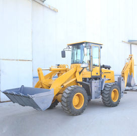 55KW Small Caterpillar Backhoe Loader Articulated Hydraulic Steering System