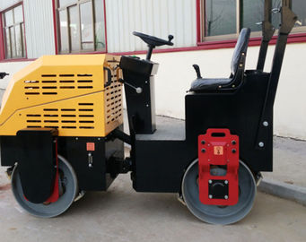 China 1T Two Drum  Vibratory Road Roller Compactor Electronic Watering Rust Resistant distributor
