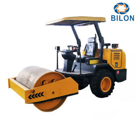 China Yellow 3.5 Ton  Single Drum Vibrator Road Roller With 22kw Diesel Engine distributor
