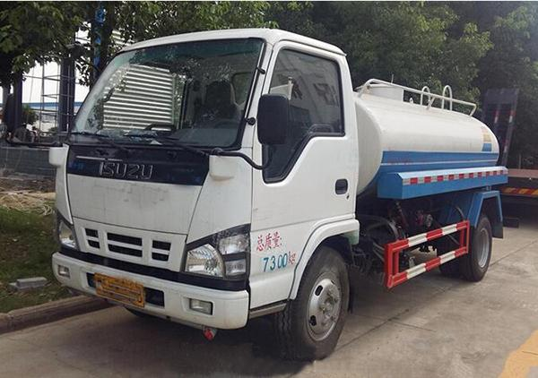 4 Ton 4m3 Construction Water Truck 4000 Liters HOWO Water Container Truck