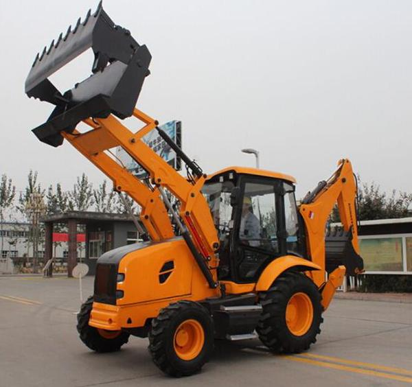 1.2m3 Bucket Capacity Front Loader Tractor 8 Ton Skid Steer Loader Backhoe