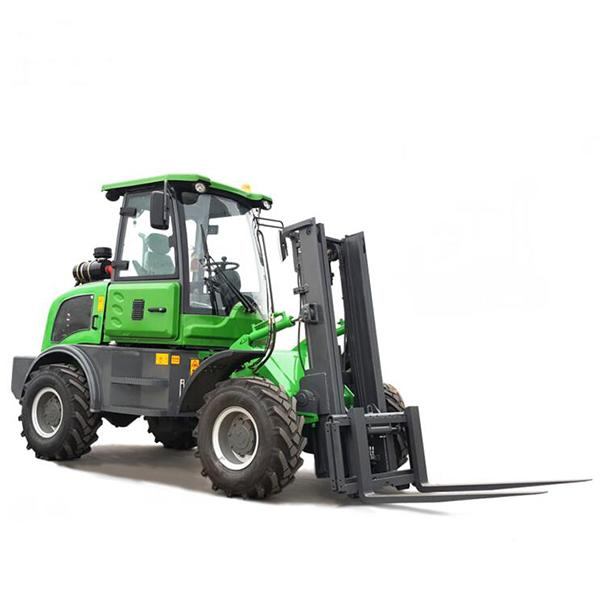 Off Road Diesel Forklift Truck 3 Ton Rated Loading Capacity With Four Wheel Drive