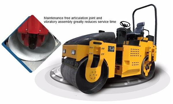 2 Ton Hand Road Roller , Stable Running Diesel Road Roller 30% Grade Ability