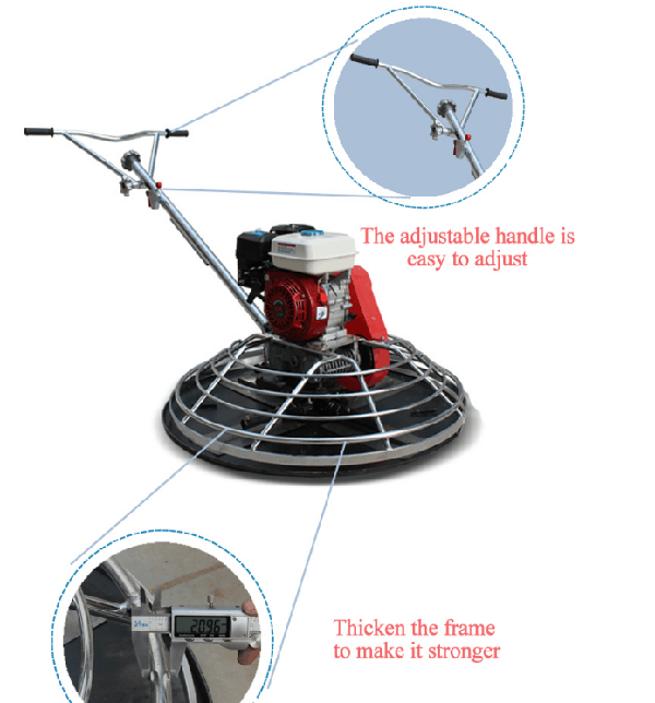 Combination Blade Power Trowel Machine 2.0mm , Concrete Finish Pavement Power Trowel