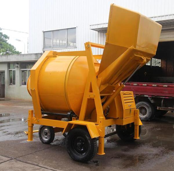 350L Diesel Engine Hydraulic Concrete Mixer with 14/Min Drum Rotation Speed