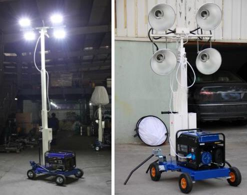 Diesel 3KW Metal Halide Lamp Inflatable Light Tower Lighting Machine