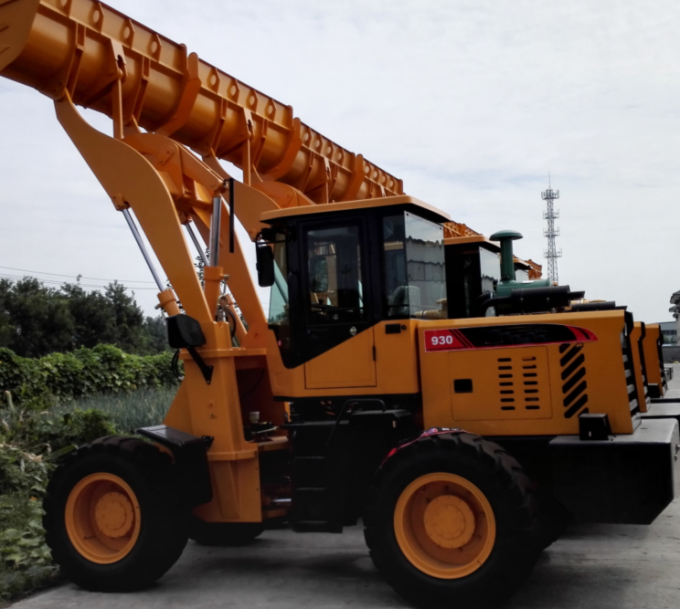 930 3 Ton Electric Control Mini Wheel Loader Machine / Hydraulic Front Wheel Loader