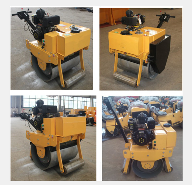9HP Vibratory Single Drum Road Roller Machine With Honda Engine 20L Water Tank